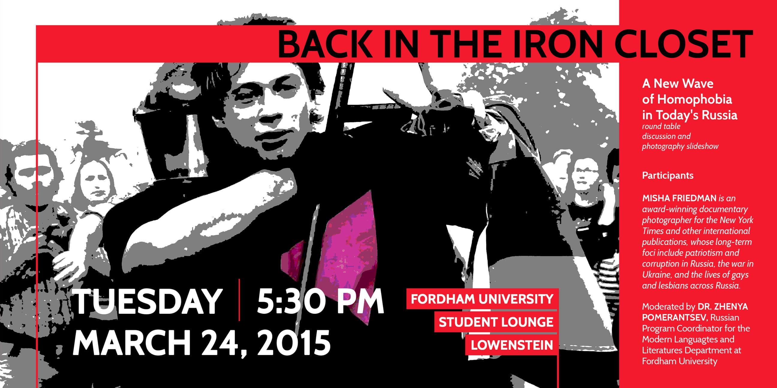 Back In The Iron Closet Round Table Discussion at Fordham University